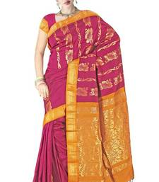 Brick Red Silk Zari Border Wedding Wear Saree  PS162 shop online