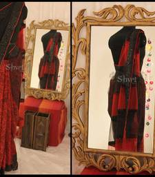 Black and Red hot saree shop online