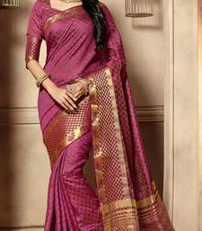 Buy Maroon woven cotton_silk saree with blouse banarasi-silk-saree online