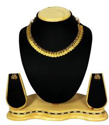 Buy Gold Plated Temple Coin Necklace Set Artificial Jewellery necklace-set online