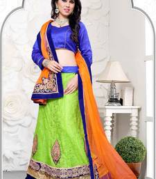Buy orange net wedding  lehenga choli lehenga-choli online