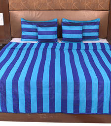 Buy Polysilk Stripes Design Bed Cover Set bed-sheet online