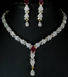 Buy Attractive CZ necklace set. Necklace online