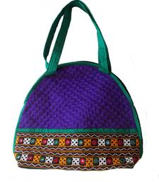 Buy Purple color Kuchi Work Hand Bag handbag online