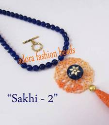 "Buy Semi precious necklace ""sakhi-2"" Necklace online"
