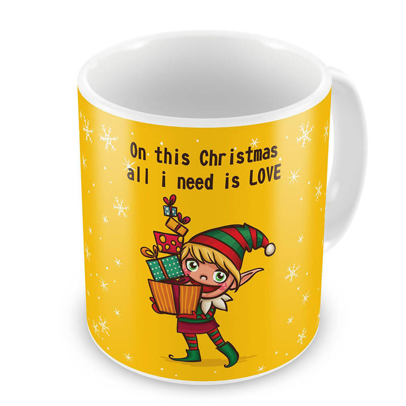 Buy Santa Claus Printed Design Cute Coffee Mugs Pair Online