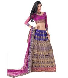Buy Hypnotex Cotton Blue Color Designer Lengha Choli XLNC8003A lehenga online