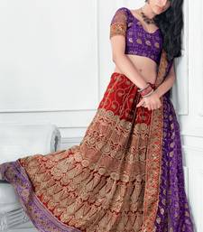 Buy Hypnotex Cotton Maroon Color Designer Lengha Choli XLNC8005B lehenga online