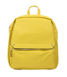 Buy Yellow plain backpacks backpack online