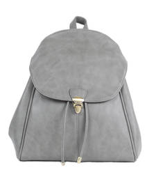 Buy Grey plain backpacks backpack online