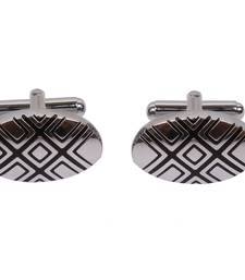 Buy Silver Oval Formal Cufflink Other online