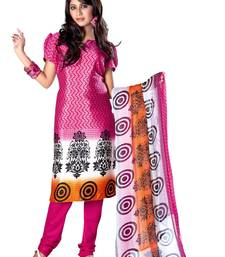 Fabdeal Light Pink Colored Crepe Jacquard Unstitched Salwar Suit shop online