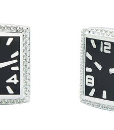 Buy Enamel Watch Black Rhodium Plated Brass Cufflink Pair for Men Other online