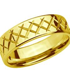 Buy Stainless Steel Golden Criss Cross Ring for Men gifts-for-boyfriend online