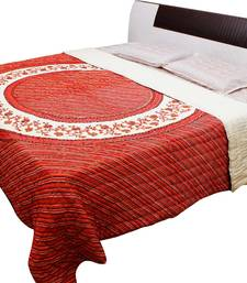 Buy Gold Print Rajasthani Double Bed Razai - 104 quilt online