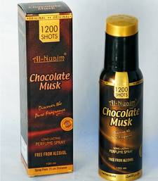 Buy AL NUAIM CHOCOLATE MUSK 100ML 1200 SHOTS PERFUME gifts-for-him online