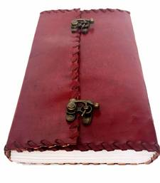 Buy handmade leather Embrossed diary office-opening-gift online