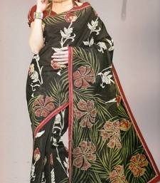 Buy Sarees Mal Mal Cotton Designer Prints With Blouse Piece D.No D1018 cotton-saree online