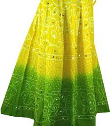 Buy Tie-Dye Cotton Bandhej Skirt skirt online