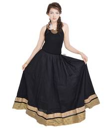 Buy Rajasthani Ethnic Black Cotton Long Skirt skirt online
