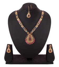 Buy Attractive Temple designed Chain Necklace Set necklace-set online