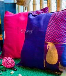 Buy Pink Purple Brocade pillow-cover online