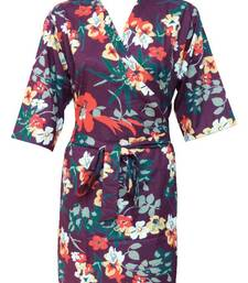 Buy Floral cotton robe - knee length - nightwear - lounge wear - night wear - maternity wear - d2 other-apparel online