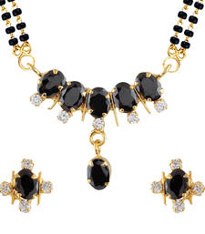 Black Mangalsutra Set With Earrings shop online