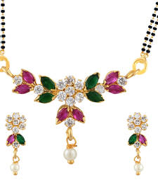 Buy Multicolor Mangalsutra Set With Earrings mangalsutra online