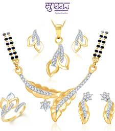 Buy Sukkhi Royal Gold & Rhodium Plated CZ Combo bridal-set online