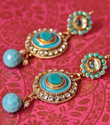 Buy TURQUOISE BLUE ROUND POLKI PEARL LAYERED BEAUTY -  NKS63TB Necklace online