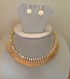Buy Goddess Laxmi Necklace Set for Navratri Special / Diwali Festival Gold Plated necklace-set online