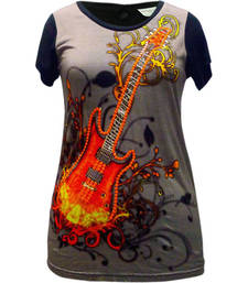 Buy  Digital Printing & Sequence work t-SHIRT dress online