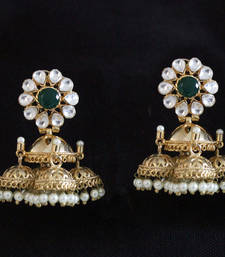 Buy Multi tokri small Jhumki Earrings danglers-drop online