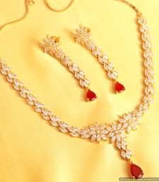 Buy Diamond Look Ruby Elegant Set necklace-set online