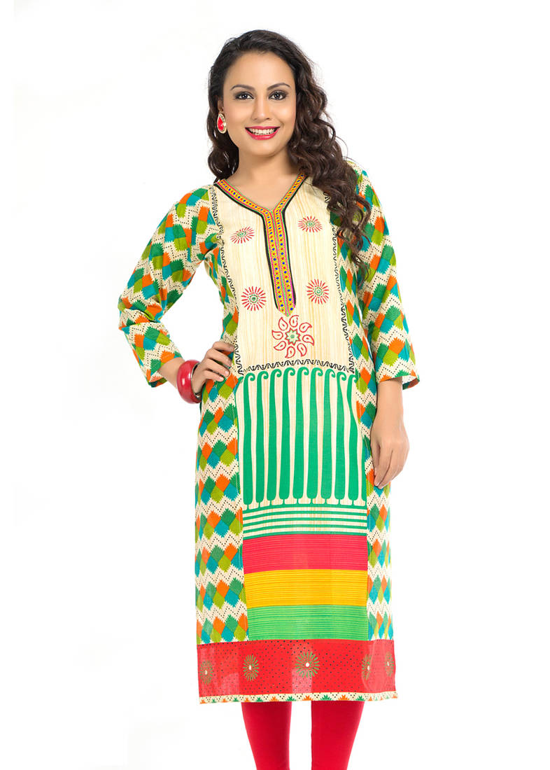 Buy embroidery kurti with sleeve online