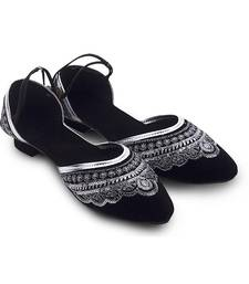 Buy Black Synthetic Leather wedding wear traditional footwear for women footwear online