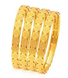 Buy Glamorous Temple Jewellery Gold Plated Coin Bangle For Women bangles-and-bracelet online