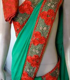 Buy ROSES FOR SALE SAREE georgette-saree online