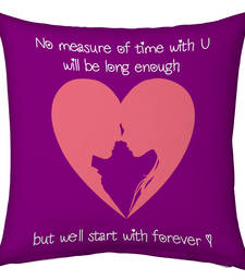 Buy Purple Designer Romantic Print Cushion valentine-gift online