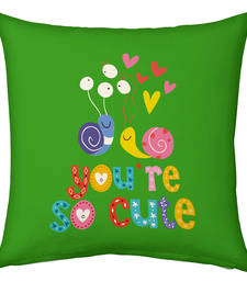 Buy Green Designer Romantic Print Cushion cushion-cover online