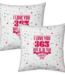 Buy Designer Romantic Printed Filled Cushions Pair 1 cushion-cover online