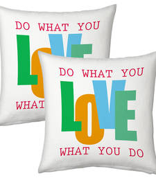 Buy White Designer Printed Filled Cushions Pair 1 cushion-cover online
