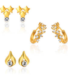 Buy Combo of Grand Bali Hoop Stud Earrings for Women jewellery-combo online