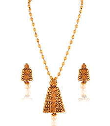 Buy Spectacular Panjarat Gold plated antique set Pendant online