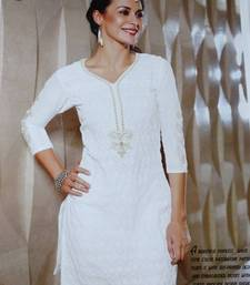 Buy White Kurti kurtas-and-kurti online