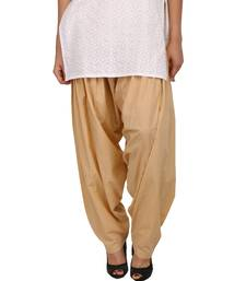 Buy Beige Pure Cotton Semi Patiala Bottoms other-apparel online