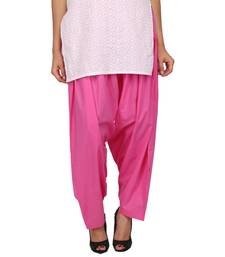 Buy Pink Dark Pure Cotton Semi Patiala Bottoms other-apparel online