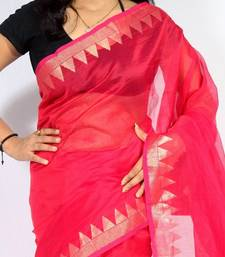 Buy Supernet cotton fancy banarasi aanchal border saree cotton-saree online