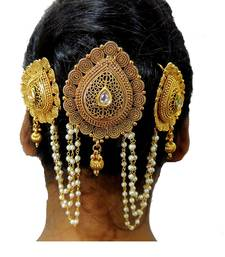 Buy Satyam Jewellery Nx Traditional Hair Pin Pearl Mala Women Jewellery hair-accessory online
